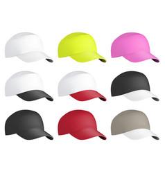 realistic front view baseball cap baseball cap vector image
