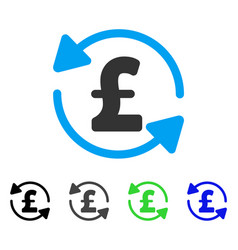 Refresh pound balance flat icon vector