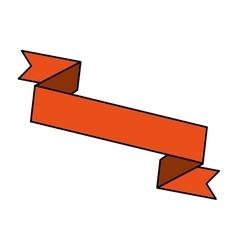 Ribbon banner design icon vector