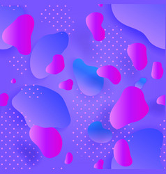 seamless pattern liquid shapes purple and blue vector image