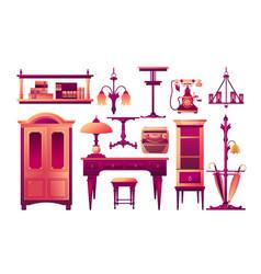 Set furniture elements design vector
