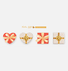 set gifts box collection realistic gift vector image
