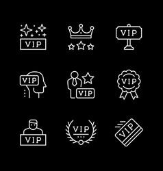 Set line icons vip vector