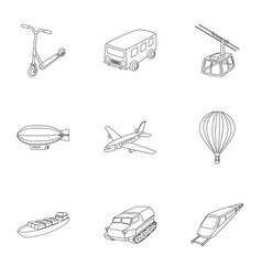 Set of pictures about types of transport vector