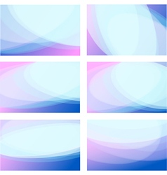 Set wavy background vector