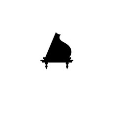 sign design piano vector image