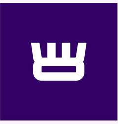 simple flat crown symbol for network connection vector image