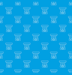 spa aroma bottle pattern seamless blue vector image