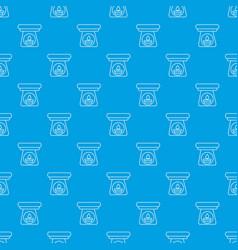 spa aroma bottle pattern seamless blue vector image