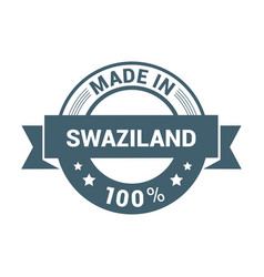 swaziland stamp design vector image