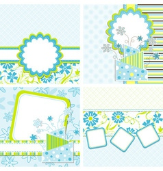 Template cake greeting card vector