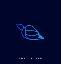 turtle line art design template vector image