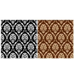 Two floral seamless arabesque patterns vector