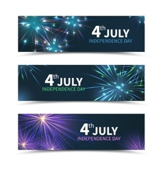 usa independence day banners set vector image