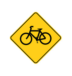 usa traffic road sign bicycle aheadcrossing vector image