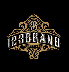 vintage luxury logo template design for label vector image