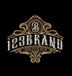 Vintage luxury logo template design for label vector