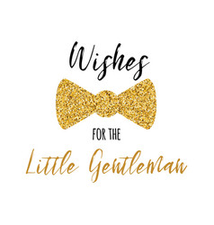 wishes for little gentleman text decorated vector image