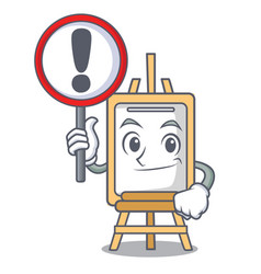 with sign easel character cartoon style vector image