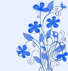 abstract blue floral pattern for design as a backg vector image vector image