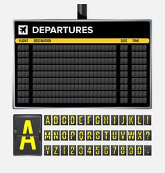 Airport board vector