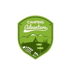 Camping Adventure Label Vintage Mountain winter vector image vector image