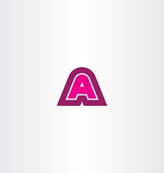magenta a letter logotype logo icon sign vector image vector image