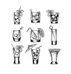Set of stemware vector image