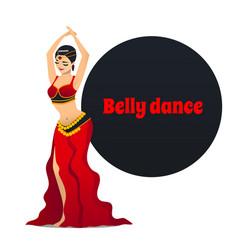 belly dancer in cartoon style vector image