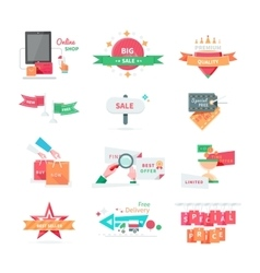 Business Icons for Sale and Discount Promotion Set vector image