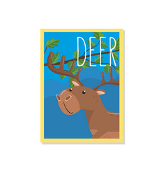 cute deer with woodland animal vector image