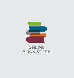 digital library online book store vector image