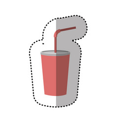 drinks soda with flat icon vector image