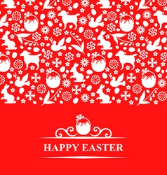 easter pattern card vector image vector image