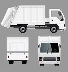 Garbage Disposal Truck vector image vector image