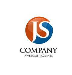 letter j and s j s letter jjs letter vector image