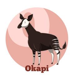 abc cartoon okapi vector image