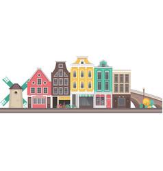 city amsterdam vector image