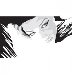 monochrome portrait of a beaut vector image