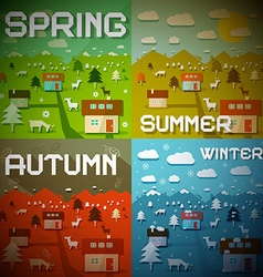 Spring Summer Autumn Winter - Four Seasons vector image