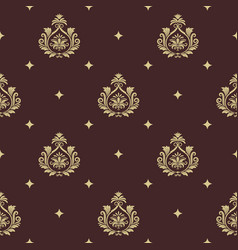 vintage pattern seamless baroque with element vector image vector image