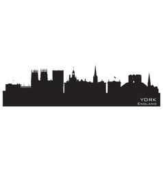 York England city skyline Detailed silhouette vector image