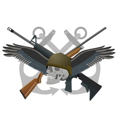 Abstract military badge vector image