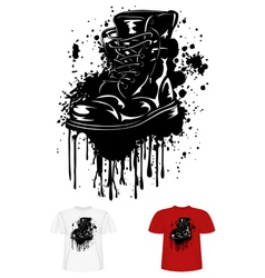 boot and splashes vector image
