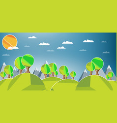 flat design landscape vector image