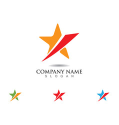 red and blue star falcon logo template icon vector image vector image
