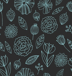 Seamless pattern with autumn flowers leave vector image vector image