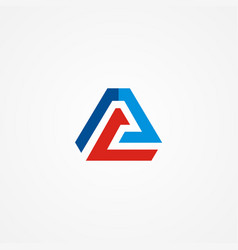 triangle line business finance company logo vector image vector image