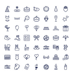 49 holiday icons vector