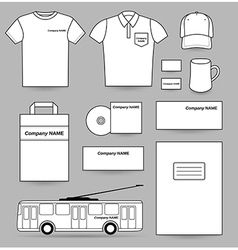 Advertisement template blank set vector